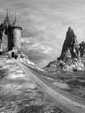 Road to a medieval castle Royalty Free Stock Photos