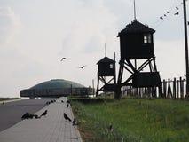 The road to the memorial of Majdanek royalty free stock photo