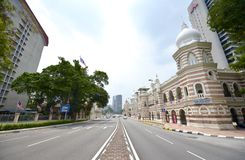 The road to Merdeka square Kuala Lumpur. Merdeka Square is located in Kuala Lumpur, Malaysia. It is situated in front of the Sultan Abdul Samad Building. It was Stock Image