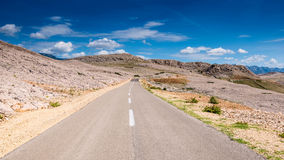 Road to metajna Pag island Royalty Free Stock Image