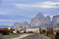 On the  road to Meteora Stock Images