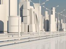 Road to the metropolis. City of the Future Royalty Free Stock Photos
