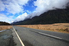 Road to milford sound fiordland national park south island new z Stock Images
