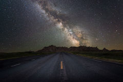 Road to the Milky Way Galaxy royalty free stock photography