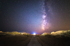 The road to the Milky Way Stock Image