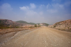 Road to mining site Royalty Free Stock Image