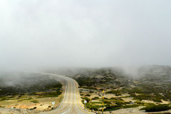 Road to the mist clouds Royalty Free Stock Photo