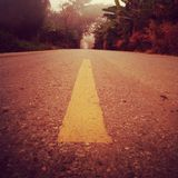 Road to mist Royalty Free Stock Images