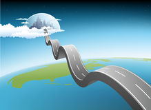 Road to modern city. Illustration of road to modern city Royalty Free Stock Images