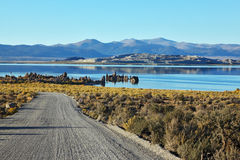 The road to the Mono Lake Stock Photography