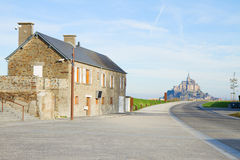 Road to Mont Saint Michel Royalty Free Stock Photos