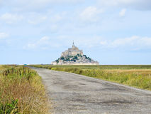Road to mont saint-michel abbey, Normandy Stock Images