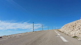 Road to Mont Ventoux in Provence,France stock video footage