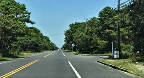Road to montauk long island new york state royalty free stock photography