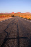 Road To Monument Valley Royalty Free Stock Photography