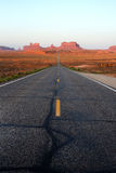 Road to the Monument Valley Stock Photos