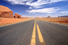Road to Monument Valley. Road through Monument Valley, Arizona Stock Images