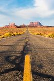 Road to the Monument Valley. Awesome view of the road to Monument Valley, Arizona Royalty Free Stock Photos