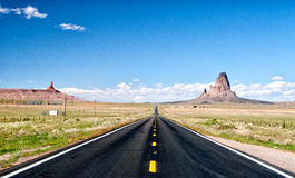 Road to Monument Valley Royalty Free Stock Photos