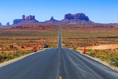 Road to Monument Valley Royalty Free Stock Images