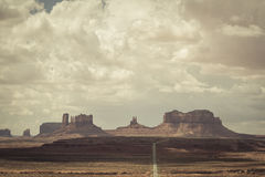 Road to monument valley Stock Photos