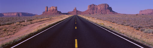 Road to Monument Valley, UT stock photo