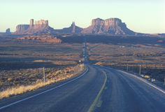 Road to Monument Valley, Utah Royalty Free Stock Photos
