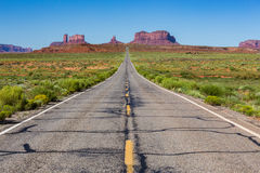 Road to the Monument Valley, Utah, USA Royalty Free Stock Images