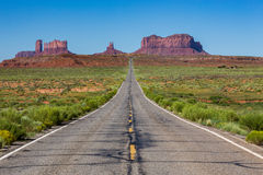 Road to the Monument Valley, Utah, USA Stock Photos