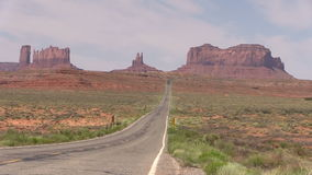 Road to  Monument Valley Zoom In stock footage
