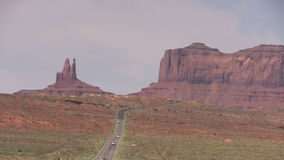 Road to  Monument Valley Zoom Out stock video