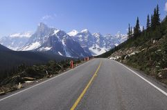 Road to Moraine lake. Stock Image