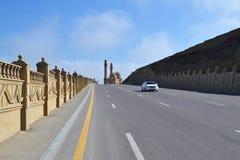 The road to the mosque. In Baku, Azerbaijan Stock Photos