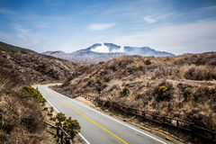 Road to Mount Aso Royalty Free Stock Photos