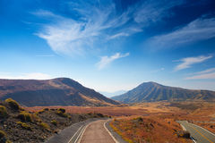 Road to Mount Aso Royalty Free Stock Photo