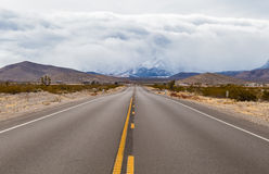 Road to Mount Charleston. Las Vegas road landscape view of storm in the mountains Stock Images