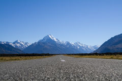 Road To Mount Cook Stock Images