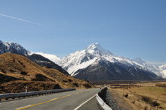 Road to Mount Cook Stock Photos