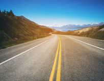 Road To Mount Cook, New Zealand Royalty Free Stock Photography