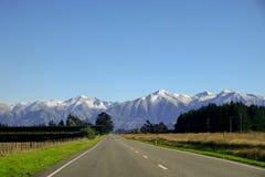Road to mount cook, New Zealand. Road to Aoraki Mount Cook, New Zealand Royalty Free Stock Photography