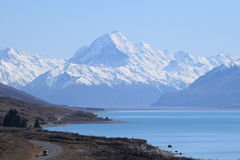 On the road to Mount Cook Stock Photos