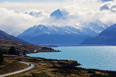 The Road to Mount Cook Stock Image