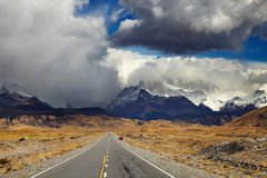 Road to Mount Fitz Roy, Patagonia, Argentina Stock Photos