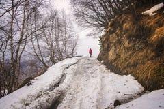 Road to Mount Kazbek Stock Photos