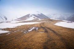 Road to Mount Kazbek Stock Photo