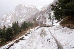 Road to Mount Kazbek Royalty Free Stock Photo