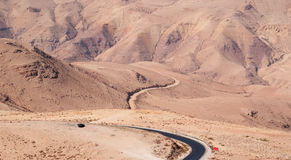 On the road to the Mount Nebo, Jordan, Middle East Stock Photography