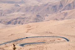 On the road to the Mount Nebo, Jordan, Middle East Stock Images