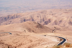 On the road to the Mount Nebo, Jordan, Middle East Stock Photo