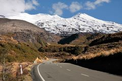 Road to Mount Ruapehu Royalty Free Stock Photo